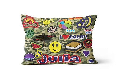 Camo Camp Patches Pillowcase