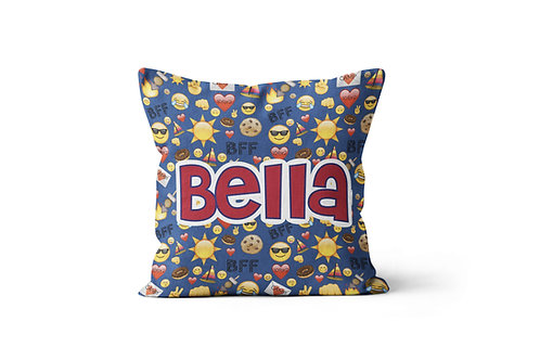 "WS Camp BFF Emojis 16""x16"" Throw Pillow Cover"