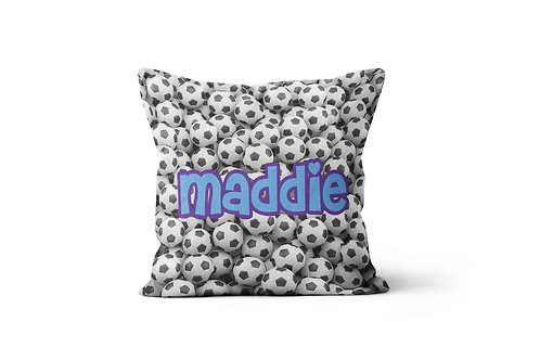 "Soccer 16""x16"" Throw Pillow Cover"
