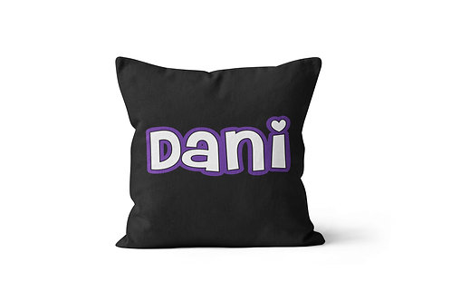 "Just a Name 16"" x 16"" Throw Pillow Cover"