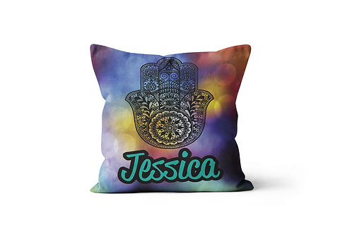 "Hamsa 16""x16"" Throw Pillow Cover"