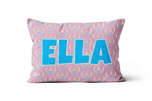 WS Pink Peace Pillowcase