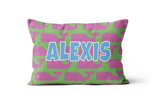 WS Whales Pillowcase