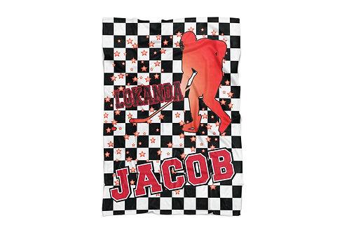 "WS Checkered Radial Camp Hockey Standard Sized Blanket (50""x60"")"