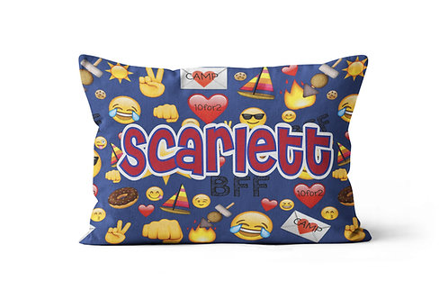WS Camp BFF Emojis Pillowcase