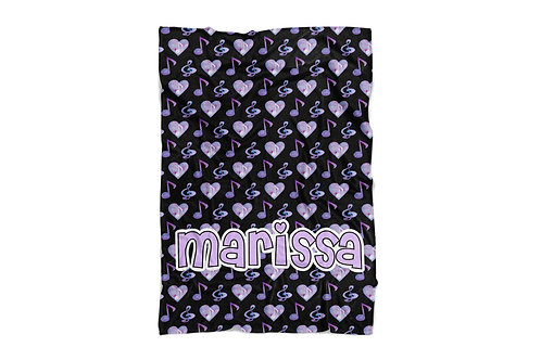 "Love for Music Standard Size Blanket (50""x60"")"