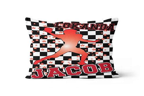 WS Checkered Radial Camp Football Pillowcase