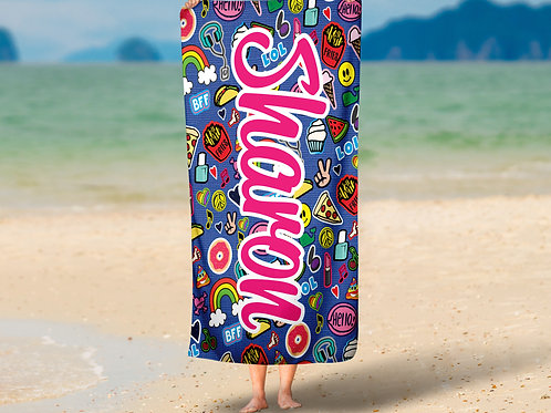 WS Patches Collage TOWEL
