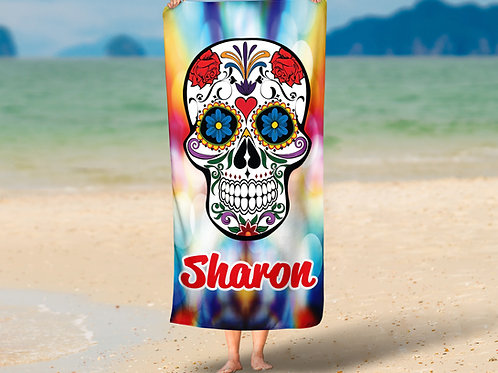 WS Colorful Skull TOWEL
