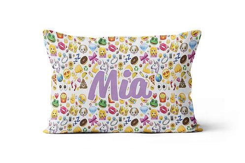 WS Emojis Collage Pillowcase