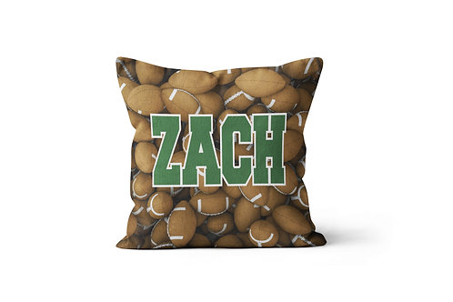 "Football 16""x16"" Throw Pillow Cover"
