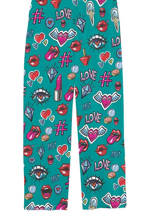 WS Adult Trendy Patches PJ Pants