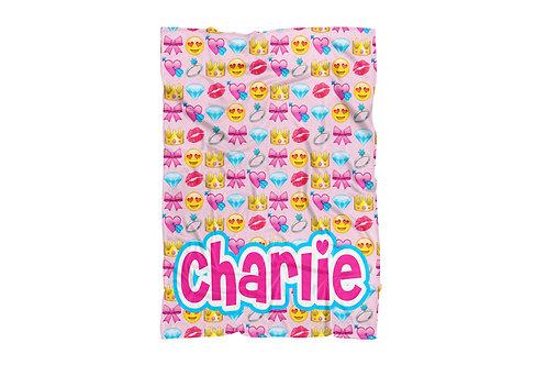 """Girly Emojis Baby & Toddler Blanket (30""""x40"""")"""