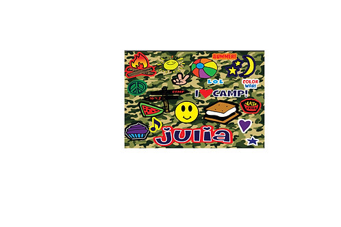 WS Camo Camp Patches Floor Mat
