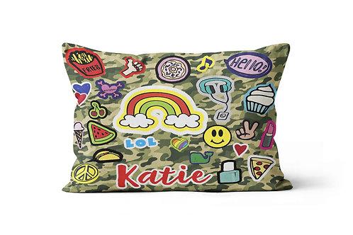 WS Camo Fun Patches Pillowcase