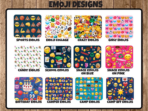"Emoji Designs 30""x50"" Sleep Sacks"