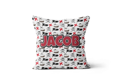 """Pirate 16""""x16"""" Throw Pillow Cover"""