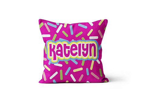 """Sprinkles 16""""x16"""" Throw Pillow Cover"""