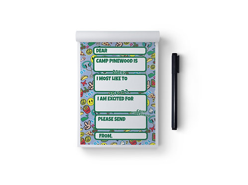 Custom Camp Patches Collage Fill In Notepad Sets