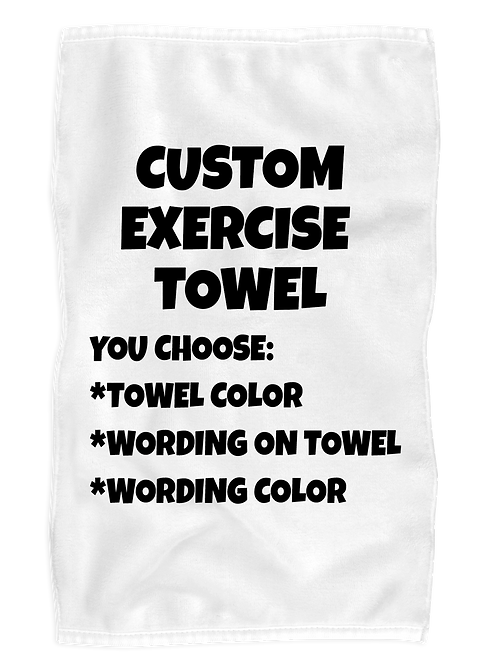 Custom Exercise Towel