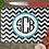 "Thumbnail: 11"" x 8"" Chevron with a Circle Monogram Cutting Board"