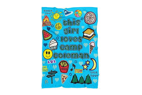 "WS This Girl Loves Camp Coleman Super Soft Blanket (60""x80"")"