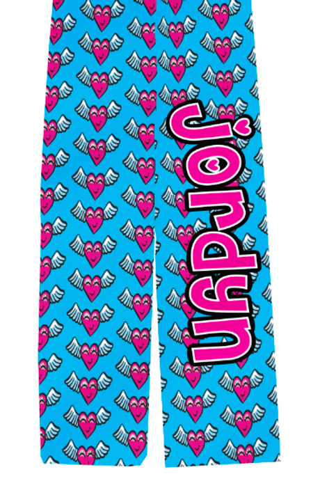 Adult Flying Hearts PJ Pants