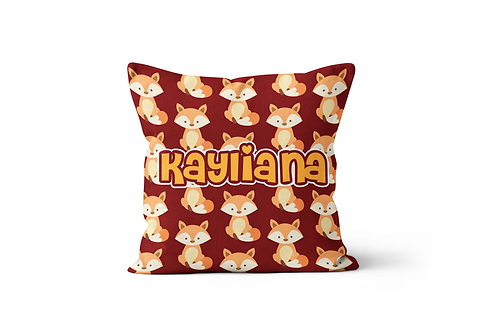 """foxes 16""""x16"""" Throw Pillow Cover"""