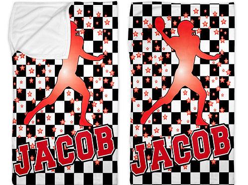 """Checkered Radial Football 30"""" x 50"""" Sleep Sack"""