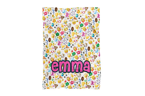 "Emojis Collage Extra Large Size Blanket (60""x80"")"
