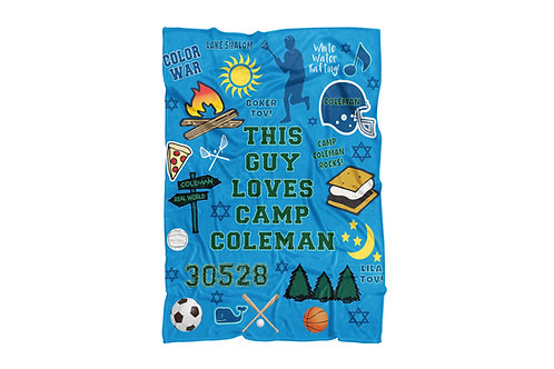 """WS This Guy Loves Camp Coleman Super Soft Blanket (60""""x80"""")"""