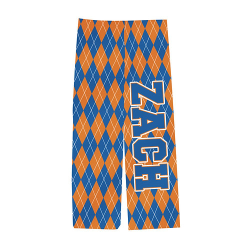 Adult COLLEGE COLORS ARGYLE PJ Pants