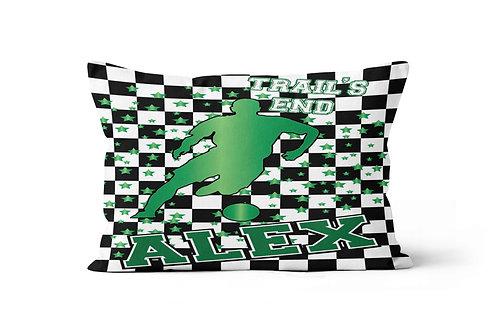 WS Checkered Radial Camp Boy's Soccer Pillowcase