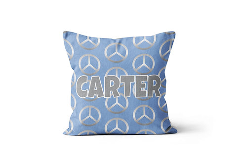 "Blue Peace 16""x16"" Throw Pillow Cover"