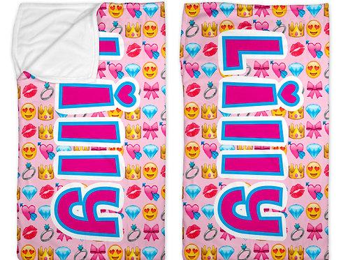 "Girly Emojis 30"" x 50"" Sleep Sack"