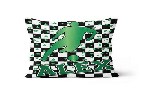 Checkered Radial Boy's Soccer Pillowcase