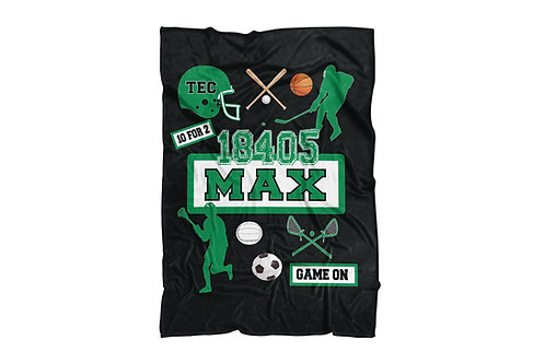 "My Camp Sports Extra Large Sized Blanket (60""x80"")"