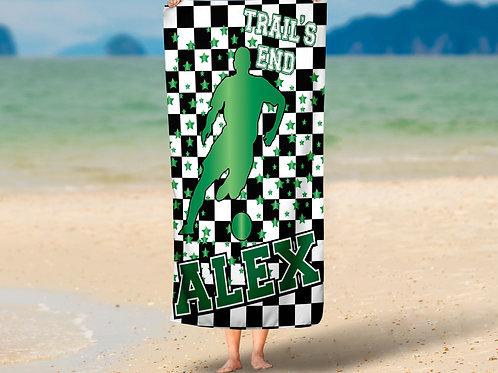 Checkered Radial Camp Soccer Boys Towel