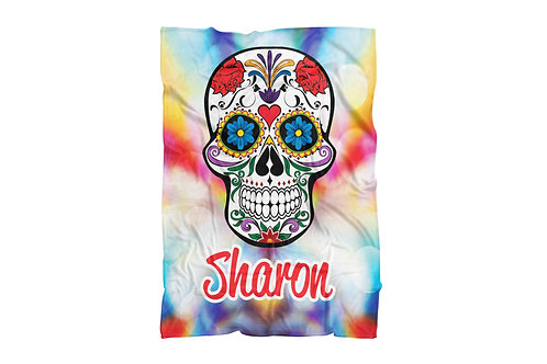 "Colorful Skull Extra Large Size Blanket (60""x80"")"