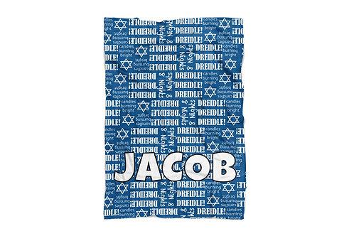 "Hanukkah Print Standard Size Blanket (50""x60"")"