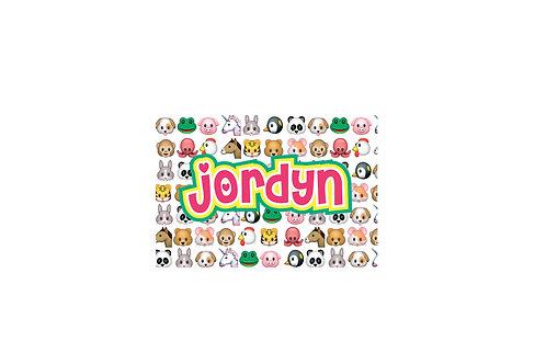 WS Animal Emojis Floor Mat