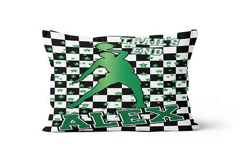 WS Checkered Radial Camp Basketball Pillowcase