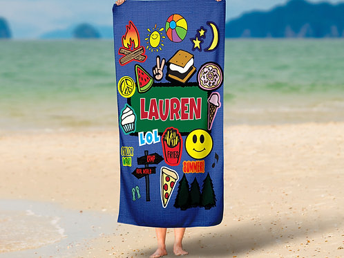 WS Demin Camp Patches TOWEL