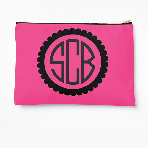 "WS Monogram Large 12.5""x8.5"" Pouch"
