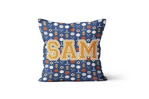 """Sports on Royal 16""""x16"""" Throw Pillow Cover"""