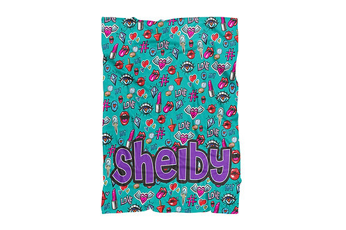 "WS Trendy Patches Standard Sized Blanket (50""x60"")"