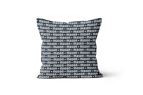 "WS Lowercase Name 16""x16"" Throw Pillow Cover"