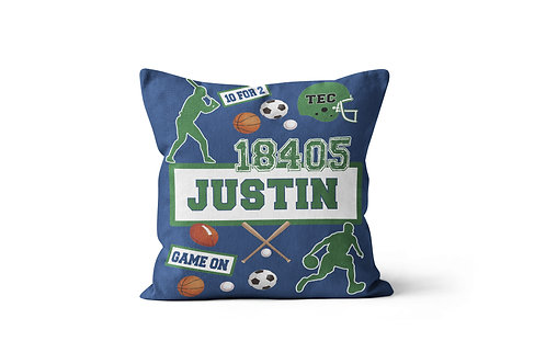 "My Camp Sports 16""x16"" Throw Pillow Cover"