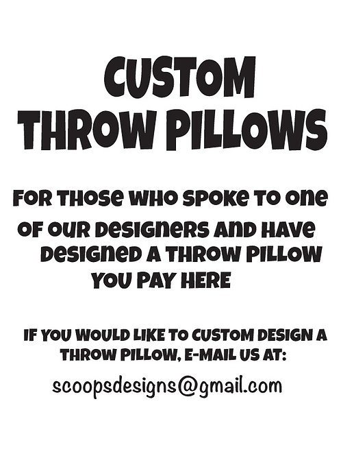 WS Custom Throw Pillow Cover