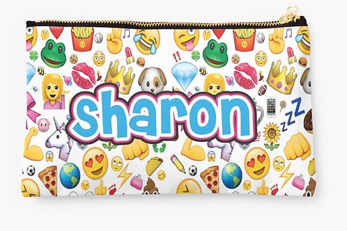"""WS Emoji Designs Small 9.5""""x6"""" Pouch"""